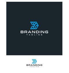 Letter d logo technology vector