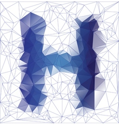 Letter H low poly vector