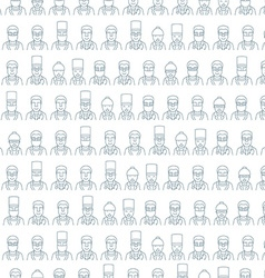 Line art face men pattern character doctor vector image
