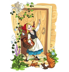 little red riding hood fairytale vector image
