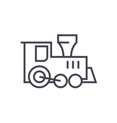 locomotive train toy line icon sign vector image