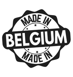 Made in belgium sign or stamp vector