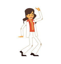 man dancing disco in flat vector image