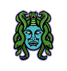 medusa greek god mascot vector image
