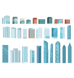 modern city buildings city skyscraper building vector image