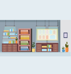 Office furniture creative cabinet planning task vector