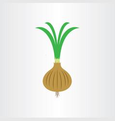 onion logo icon symbol vector image