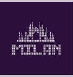 Original logo of milan city with caption vector