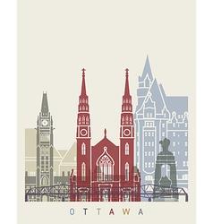 Ottawa skyline poster vector
