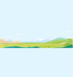 Panorama summer mountain valley vector