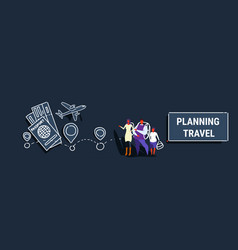 parents and son standing together family planning vector image