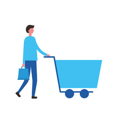people online shopping vector image