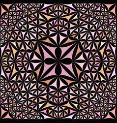 Pink seamless abstract curved shape kaleidoscope vector