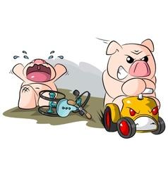 potbelly piggies road hog vector image