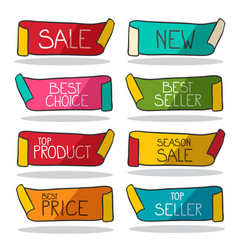 retro labels set business stickers sale new best vector image
