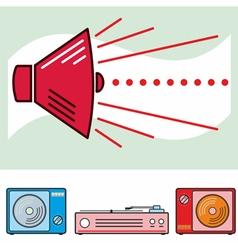 Retro Sound Banner Colour vector image vector image