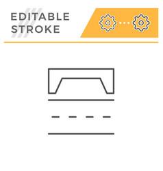 Road scheme editable stroke line icon vector