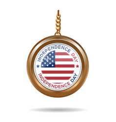 Round medallion for usa independence day vector