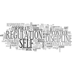 Self-regulation word cloud concept vector