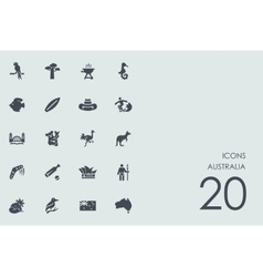 Set of Australia icons vector image