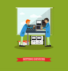 Setting devices in physical laboratory vector
