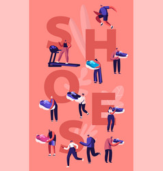 Shoes concept sportsmen and sportswomen training vector