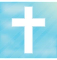 Sign cross christianity vector