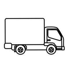 Silhouette trucks trailer icon vector