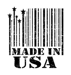 stamp made in the usa vector image