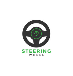 steering wheel graphic design template vector image