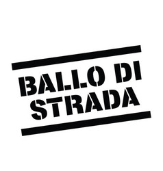 Street dance stamp in italian vector