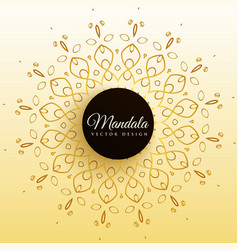 stylish mandala decoration background vector image