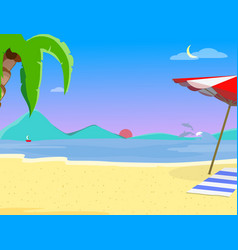summer beach background and evening time landscape vector image