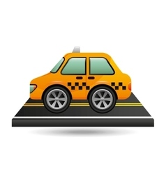 taxi cab on road design vector image