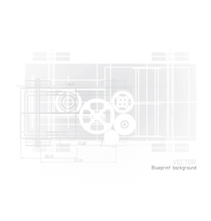 technology blueprint abstract design vector image