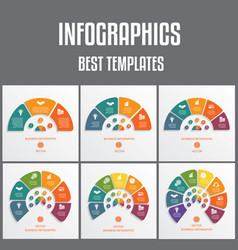 templates infographics numbered for 345678 vector image