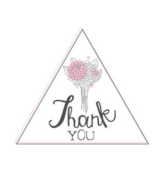 thank you handwritten inscription design element vector image