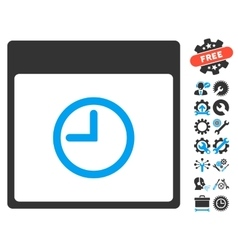 Time Calendar Page Icon With Bonus vector image