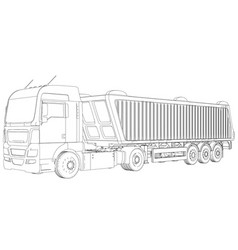 Top view tipper lorry on transparent background vector