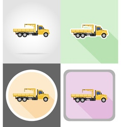Truck flat icons 12 vector