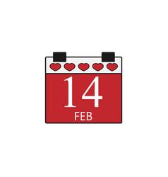 Valentines calendar flat icon valentines day vector