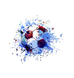 watercolor a soccer ball vector image