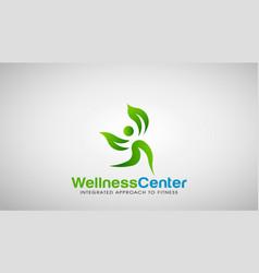 wellness center logo design vector image