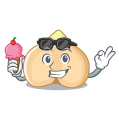 with ice cream chickpeas character cartoon style vector image