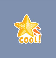 flat design social network sticker vector image vector image