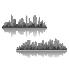 Modern cityscapes designs vector image