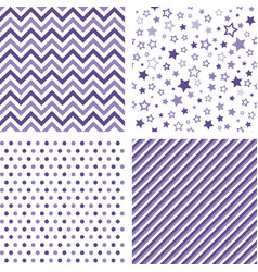 ultra violet seamless patterns backgrounds vector image vector image