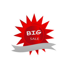big sale icon banner red star design vector image
