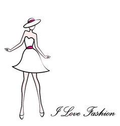 I love fashion vector image vector image