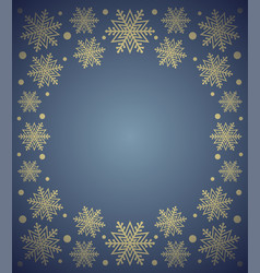 new year background card with snowflake blue vector image vector image